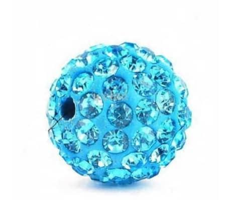 10 piezas mayoristas bola disco cuentas shamballa azul turquesa 10mm c[6/7]