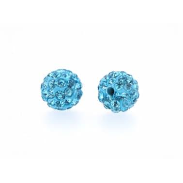 10 piezas mayoristas bola disco cuentas shamballa azul turquesa 10mm c[4/7]