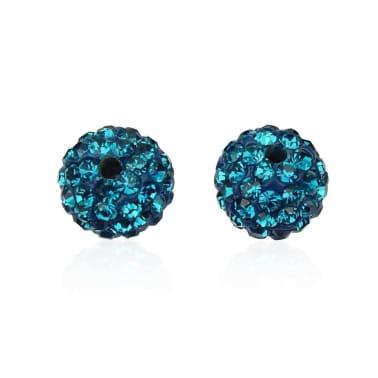 10 piezas mayoristas bola disco cuentas shamballa azul turquesa 10mm c[7/7]