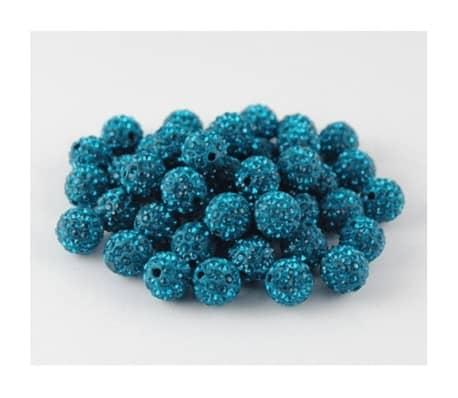 10 piezas mayoristas bola disco cuentas shamballa azul turquesa 10mm c[1/7]