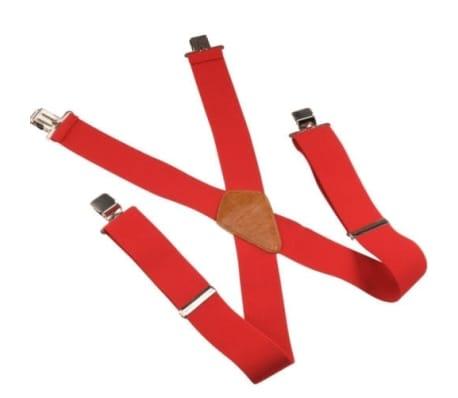 """Tirantes de hombre rojos, ajustables 50mm 2"""""""
