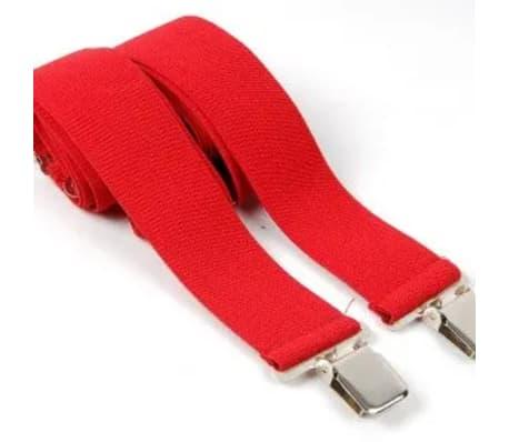 """Tirantes de hombre rojos, ajustables 50mm 2""""[4/7]"""