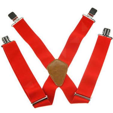 """Tirantes de hombre rojos, ajustables 50mm 2""""[3/7]"""