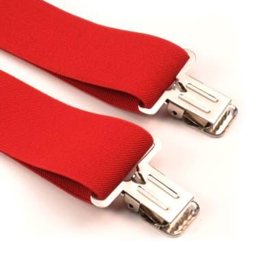 """Tirantes de hombre rojos, ajustables 50mm 2""""[6/7]"""