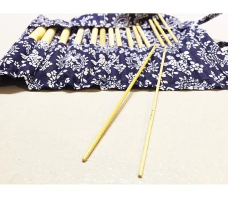 16 Pices En Bambou, Crochets De 15cm/ 6 Pouces Avec Botier (2mm -[5/7]