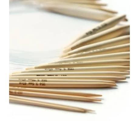16 Pices En Bambou, Crochets De 15cm/ 6 Pouces Avec Botier (2mm -[7/7]