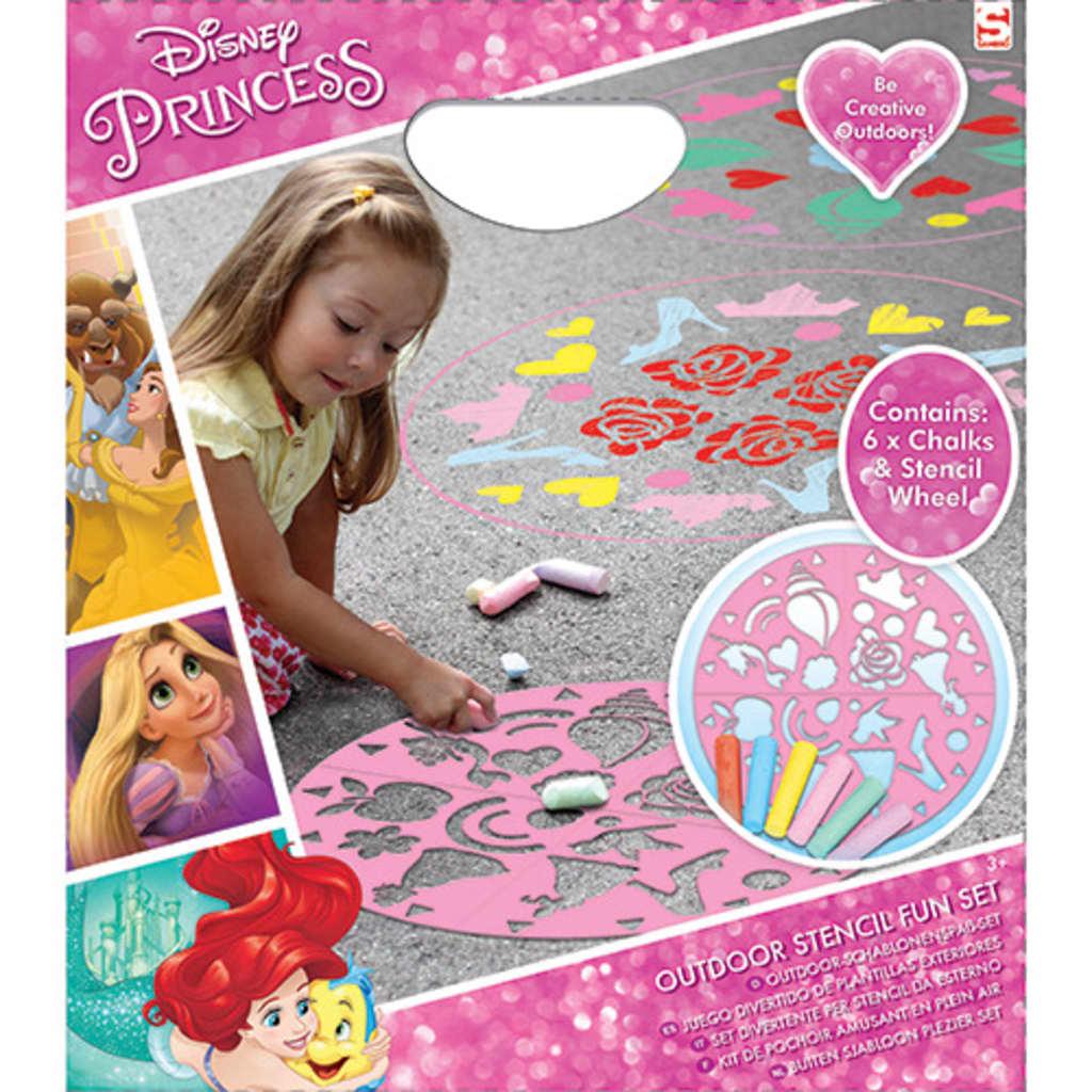 Disney Princess Chalk Set mit Schablone