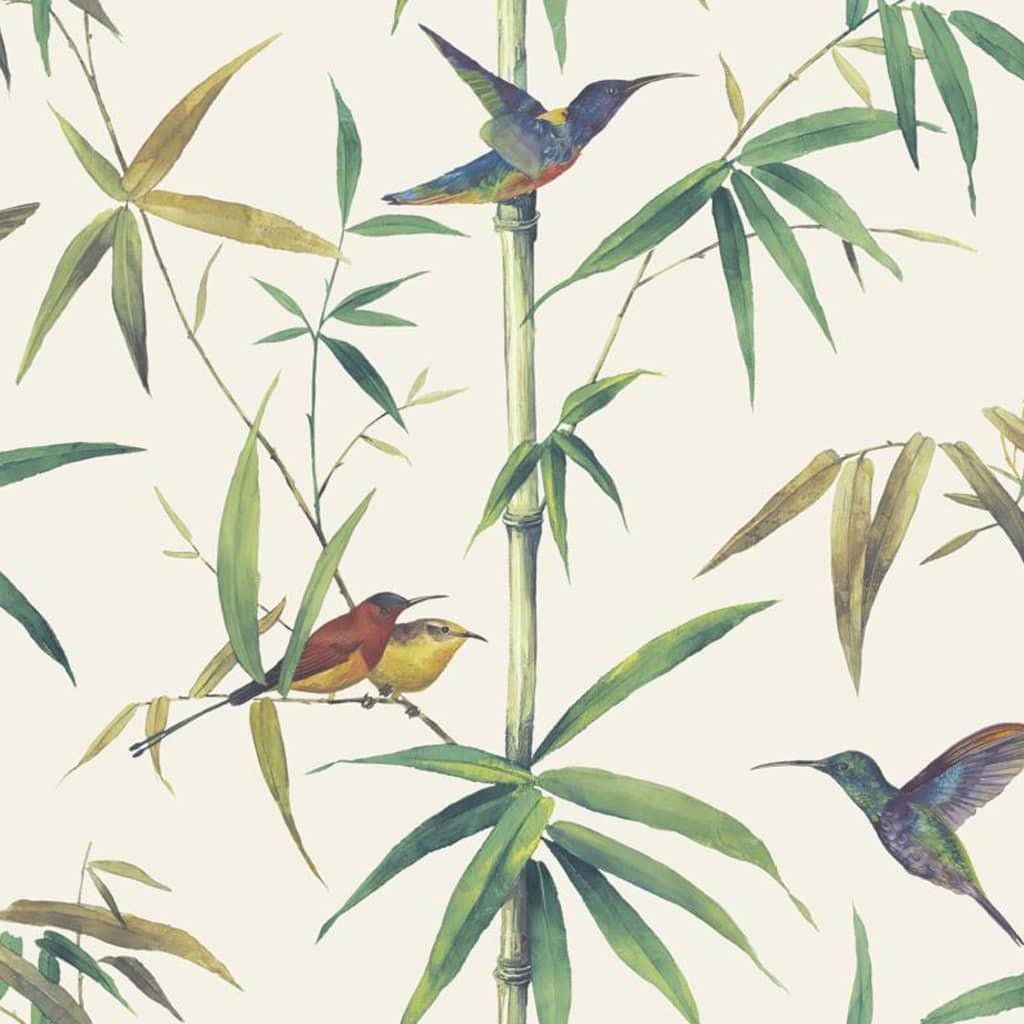 Noordwand Tapet Kolibri and Bamboo, ecru vidaxl.ro