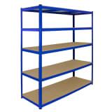 Monster Racking T-Rax Extra Wide Storage Shelves, 160cm W, 60cm D