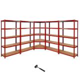 Z-Rax Corner Racking Bundle: Corner Shelving & 4 Garage Racking Bays