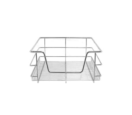 Cestelli Estraibili Per Mobili Da Cucina.Kukoo 2 Cestelli Estraibili Solidi Per Mobile Da Cucina Largo 40cm