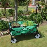 Chariot pour Jardin Pliable Caddie Utilité Brouette Vert Transport Pui