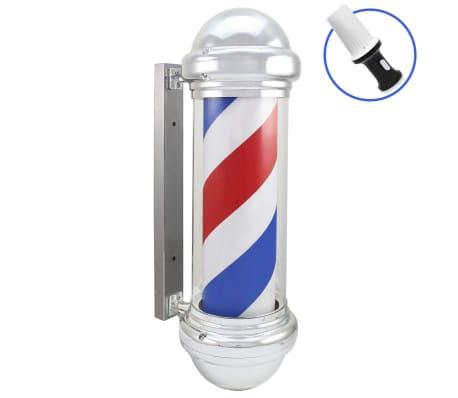 Barber Pole Rotating LED Sign Red White Blue Stripes Light Heavy Duty