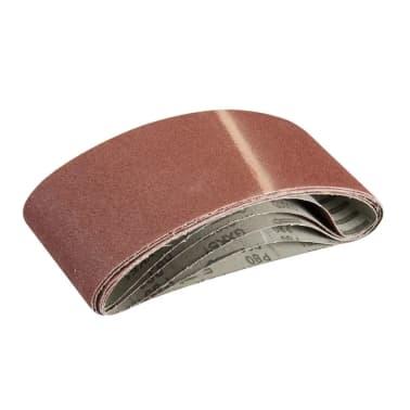 SILVERLINE - 5 bandes abrasives 100 x 610 mm Grain 80[1/1]