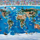 Walltastic Fototapete World Map 41851