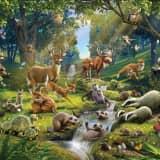 Walltastic Fototapetas Animals Forest, 43060