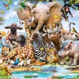 Walltastic Fototapete Jungle Safari 45255