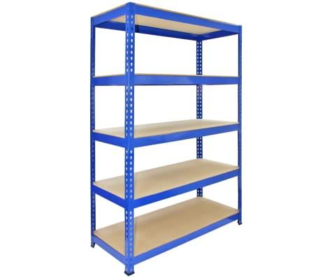 Estanter a para garaje acero inoxidable sin tornillos azul 120cm ancho - Estanterias para garaje ...