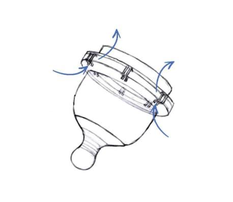 YOOMI Biberon anti-colique avec tétine 240 ml Jaune[2/5]