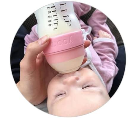 YOOMI Biberon anti-colique avec tétine 240 ml Jaune[4/5]