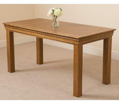 French Cau Rustic Solid Oak 150cm Dining Table