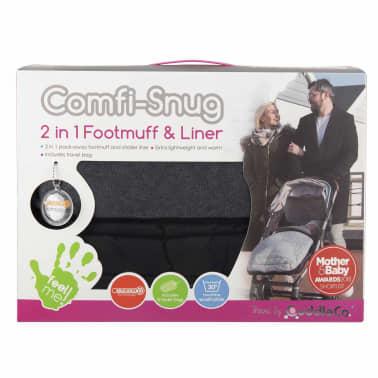 CuddleCo Voetenzak en voering Comfi-Snug 2-in-1 zwart[14/14]