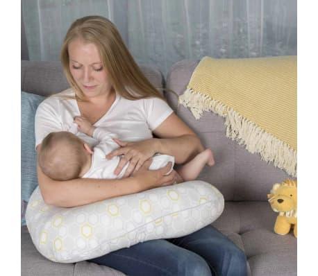 CuddleCo Oreiller d'allaitement Mousse à mémoire Comfi Mum Blanc[4/17]