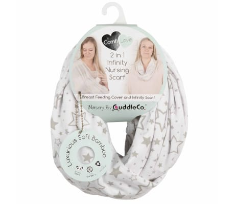 CuddleCo Écharpe d'allaitement 2-en-1 Comfi Love Infinity Blanc[5/6]