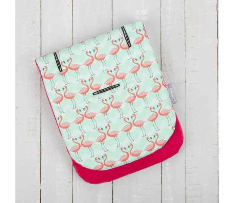 CuddleCo Kinderwagenvoering Comfi-Cush traagschuim flamingoprint[4/6]