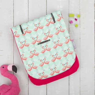CuddleCo Kinderwagenvoering Comfi-Cush traagschuim flamingoprint[3/6]