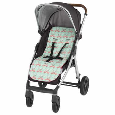 CuddleCo Kinderwagenvoering Comfi-Cush traagschuim flamingoprint[6/6]