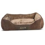 Scruffs & Tramps Cama para mascotas Chester marrón talla XL 90x70 cm