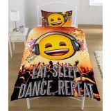 Emoji Eat Sleep Dance Påslakanset Bäddset Vändbart 135 x 200 cm