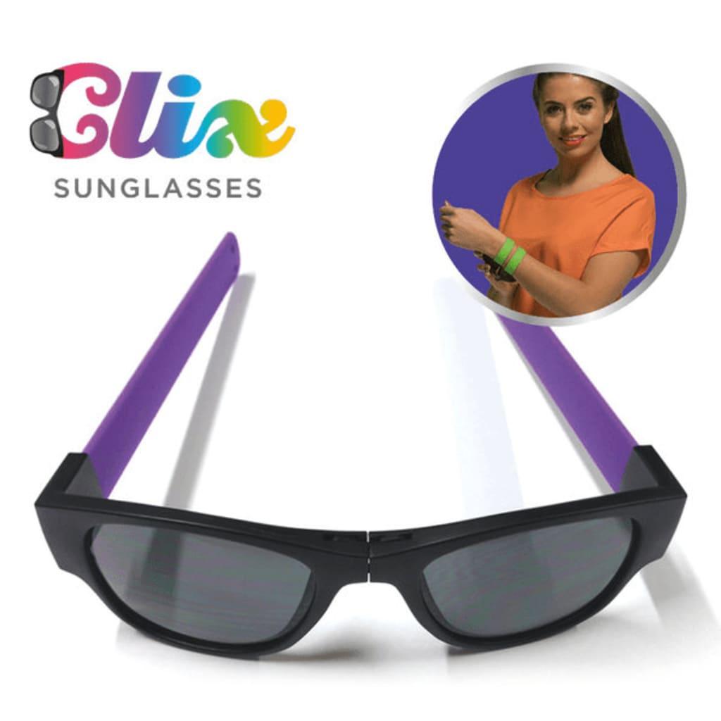 Afbeelding van Clix Opvouwbare Zonnebril Zwart/Paars