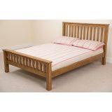 "Cotswold Rustic Oak Bed Frame 5' & 10"" Supreme Memory Foam Mattress"