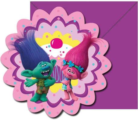 DREAMWORKS - Trolls Poppy invitations 6-pack pour les parties[1/2]