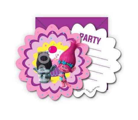 DREAMWORKS - Trolls Poppy invitations 6-pack pour les parties[2/2]