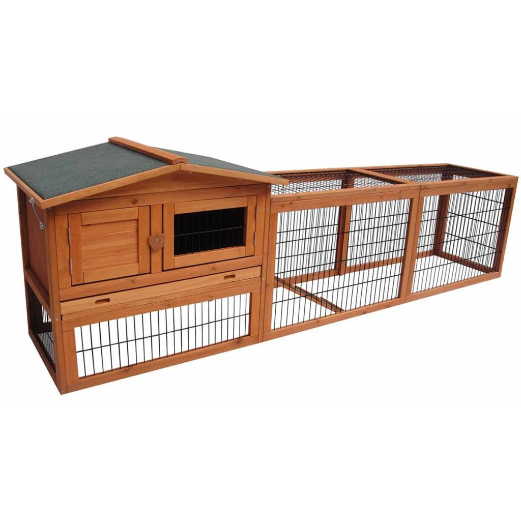 FLAMINGO Cușcă de iepuri Sunshine Jumbo, 230 x 53 x 70 cm, 200076 poza 2021 FLAMINGO
