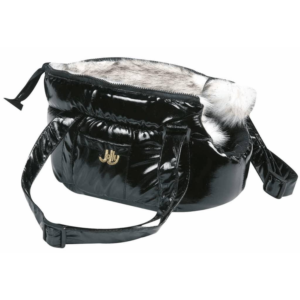 FLAMINGO Geantă transport animale Lola, negru, 25x16x15 cm, 503408 poza vidaxl.ro