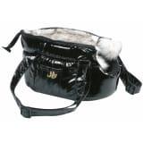 FLAMINGO Torba za prenašanje živali Lola črne barve 25x16x15 cm 503408