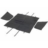 FLAMINGO Pokrowiec na tylne siedzenie dla zwierząt, 135x148cm, czarny
