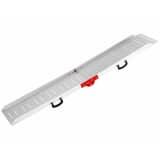 FLAMINGO Rampa dla zwierząt, aluminiowa, srebrna, 120 kg, 183x36x8 cm
