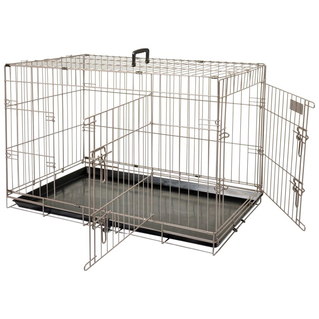FLAMINGO Cușcă pentru animale de companie Ebo maro metalic 61x43x50 cm poza vidaxl.ro