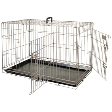 FLAMINGO Cage pour animaux Ebo Marron métallisé 61 x 43 x 50 cm 517580[1/2]