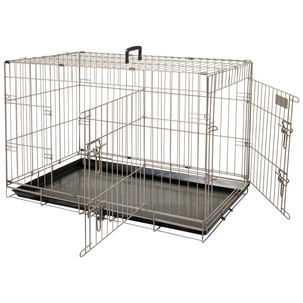 FLAMINGO Cușcă pentru animale de companie Ebo maro metalic 77x47x55cm poza vidaxl.ro