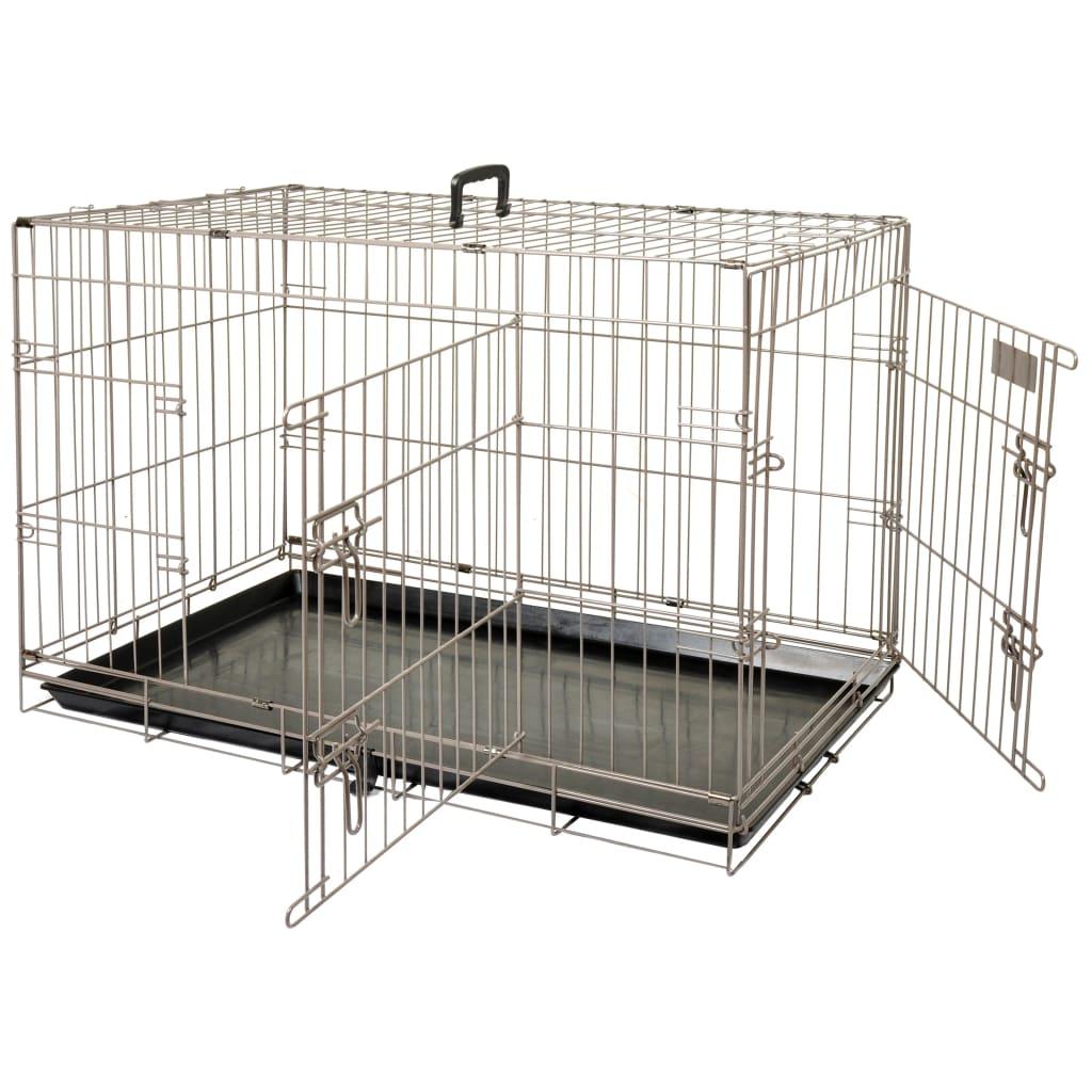 FLAMINGO Cușcă pentru animale de companie Ebo maro metalic 92x56x64 cm poza vidaxl.ro