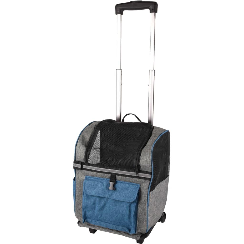 """Afbeelding van FLAMINGO trolley voor gezelschapsdieren & rugzak \""""Kiara\"""" 2-in-1"""