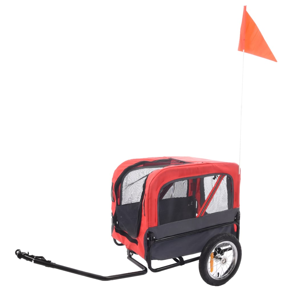 FLAMINGO Remorcă bicicletă pentru câini Romero, roșu, 59,5x43x51 cm vidaxl.ro