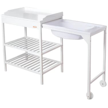 Acheter Baninni Table à Langer Avec Baignoire Lavi Bois Blanc