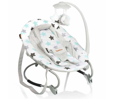 Baninni Transat pour bébés Perla Gris avec étoiles BNBO006-GYST